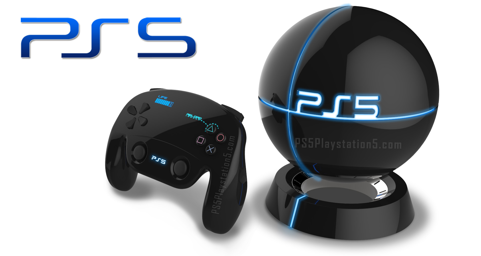 Levitating Ps5 Console With Touch Screen Dualshock 5 Controller Ps5
